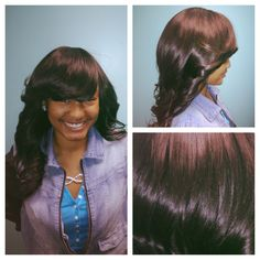 Malaysian straight full sew in. Protective style  www.styleseat.com/luxelengths