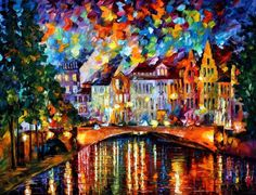 Amsterdam Stretched Canvas Painting / Canvas Art for sale. Shop your favorite Leonid Afremov Amsterdam Stretched Canvas Painting / Canvas Art without breaking your banks. Oil Painting On Canvas, Painting & Drawing, Canvas Art, Painting Styles, Big Canvas, Cuadros Pop Art, Fine Art Amerika, Popular Paintings, Palette Knife Painting