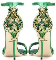 Women's Rhinestones Satin Bridal Shoes High Heel Open Toe Metal Decor Stilettos in Clothing, Shoes & Accessories, Women's Shoes, Heels Dr Shoes, Green Shoes, Pump Shoes, Me Too Shoes, Golf Shoes, High Heels Stilettos, Women's Pumps, Stiletto Heels, Sparkly Wedding Shoes
