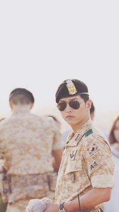 """Song Joong Ki as Captain Yoo Shi Jin in Descendants of The Sun, 2016 "" Song Joong Ki Drama, Song Joong Ki Dots, Korean Celebrities, Korean Actors, Soon Joong Ki, Decendants Of The Sun, Park Bogum, Sun Song, Songsong Couple"