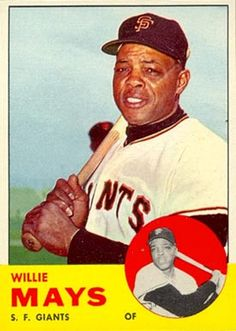 Willie Mays New York/San Francisco Giants Baseball Card Values, Old Baseball Cards, Baseball Star, Baseball Games, Football Cards, Baseball Players, Baseball Photos, Baseball Videos, Pirates Baseball