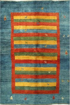 Multi Fine Gabbeh Wool Rug GB-17 $444.00