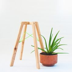 Modern wood planter stand Modern simple wood plant stand
