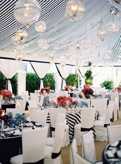 Nautical wedding.