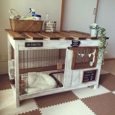 Dog owners have to consider several factors when buying or building a house for … – large dog kennel Animal Room, Diy Dog Crate, Dog Crate Table, Wood Dog Crate, Dog Crate Cover, Dog Room Decor, Bunny Cages, Diy Bunny Cage, Rabbit Cages