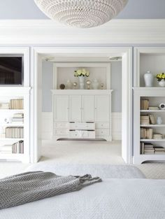 what a gorgeous entrance into the master closet!