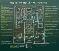 Detailed Tourist Map of the Forbidden City (Palace Museum), Beijing, China China Travel, Travel Maps, Travel And Tourism, Travel Guide, Tourist Map, Beijing China, City Maps, Story Inspiration, Palace
