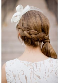 Love this oh-so-fresh plaited upstyle. Perfect for a chic vintage-inspired wedding // Photography Kathryn Krueger, Hair Katie Crumley #wedding #hair