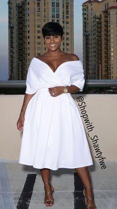 All White Outfits: White Dress 2019 - Fashion White Fashion, Curvy Fashion, Look Fashion, Plus Size Fashion, Girl Fashion, Fashion Outfits, Womens Fashion, Fashion Ideas, Ladies Fashion