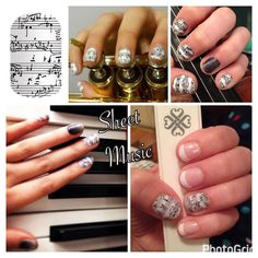 #mountgambier plays host to the #generationsinjazzfestival every year and it's a fabulous event! Are you involved? Tell me what you play/sing  If you're quick you can have these gorgeous #nailwraps in time for the start of the festival  #sheetmusicjn #GIJ2017 #jazz #music