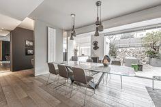 BRANDO concept  | Contemporary living home adore best house interior design fine living open space arredamento moderno vetrate parquet rovere camino lamiera