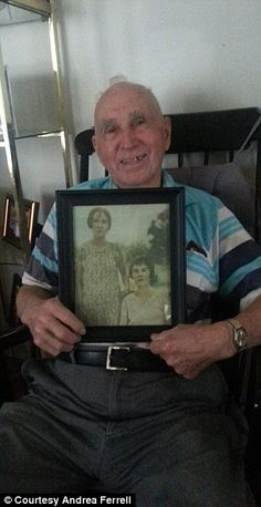 Touching moment grandpa, 83, sees his mother for the first time in 70 years after granddaughter tracks down rare photograph Thomas Cain's mother Orae Mae died in 1943, when he was just 13 He thought that no photographs of her had survived Granddaughter Andrea Ferrell, 29, tracked one down, and filmed the reveal Emotional Mr Cain sheds tears as he looks on image from the 1920s Ferrell is now looking for other photos - especially Mr Cain's father  Read more: