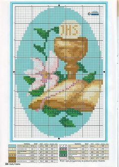 cross stich for first holy communion