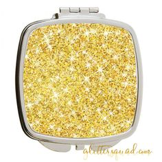 Solid Glitter & Stainless Steel Silver Compact Pocket Mirror Gold... ($10) ❤ liked on Polyvore featuring beauty products, beauty accessories, bath & beauty, makeup & cosmetics, makeup tools & brushes and pink