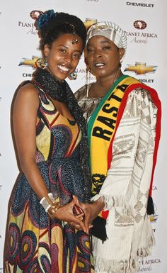 Donisha with her mother, Sharon Marley. PLANET AFRICA AWARDS | Ashlee Hutchinson Photography