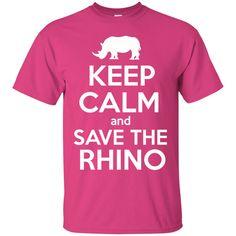 Keep Calm and Save the Rhino Unisex T-Shirt