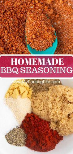 Homemade Dry Mixes, Homemade Spice Blends, Homemade Bbq, Homemade Spices, Homemade Seasonings, Spice Mixes, Spice Rub, Chip Seasoning, Bbq Seasoning
