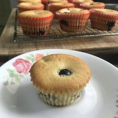 B377C179-9EE7-48D1-AC9C-9B0250870B9B Blueberry Cupcakes, 12 Cupcakes, Sifted Flour, Cupcake Liners, Small Cake, Frozen Blueberries, Cake Flour, Salted Butter, Brown Sugar