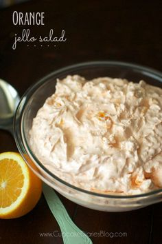 Moms Easy Orange Jello Salad from CupcakeDiariesBlog.com