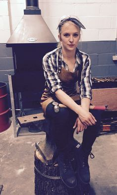 Katie Ventress @kvblacksmith. Yorkshire Blacksmith. #Artist #workshop #craftsmen