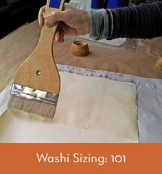 """Many of our readers are quite knowledgeable when it comes to sizing your own paper, especially sizing your """"go-to"""" paper. Here is a step-by-step """"recipe"""" for cooking up your own sizing and applying it to your favorite Eastern paper. The photos shown here are mostly depicting sizing made from wheat starch. Nope!, it's not a …"""