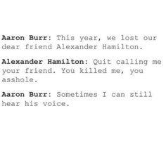 Burr and Hamilton