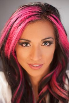Hot Pink Highlights In Brown Hair Images & Pictures - Becuo