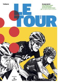 Cover of the Observer's Tour de France guide. Illustration by David Sparshott
