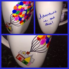 UP Hand Drawn Mug Adventure is Out There by SweetHeartShoes