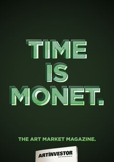 "ArtInvestor:""Time is Monet. The Art Market Magazine."""