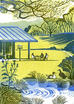 Clare Melinsky | Illustrator | Central Illustration Agency #illustration #print #printmaking #linocut Illustrators, Fine Art, Digital Illustration, Drawings, Linocut, Linocut Prints, Painting, Artwork, Scenery