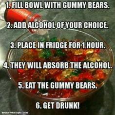 With cinnamon bears and Fireball ;)