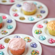 We loved sharing our cupcakes on the paint palettes for our 2 year olds bday party!