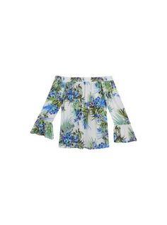 Blusa branca de manga 3/4 com estampa floral - Visite Riachuelo.com.br