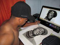 reproduzindo imagem do rapper GRANDMASTER FLESH!!