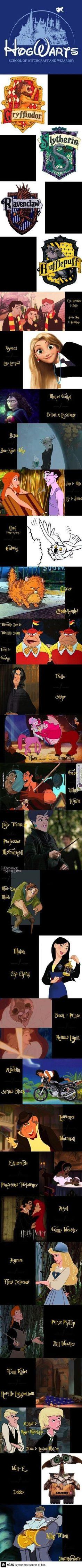 Hogwarts in a parallel Disney world