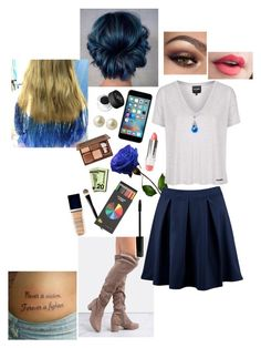 """""""I DYED MY HAIR BLUE"""" by writingismydreams ❤ liked on Polyvore featuring Boohoo, Topshop, NARS Cosmetics, Carolee, Yves Saint Laurent, Too Faced Cosmetics, FusionBeauty, Polite, Christian Dior and Lord & Berry"""