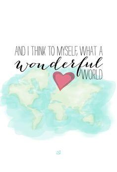 LostBumblebee: What a Wonderful World.