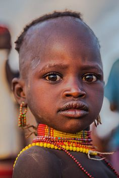 Africa | Hamer tribe child, lower Omo Valley, Ethiopia