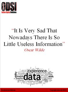 The saddest part of #information era *umm* that there's very li'l useless information