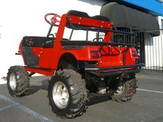Cart Golf Off Road Newport Beach | Yamaha Gas Golf Cart Lifted A-arm Off Road Tires utility basket lights ...