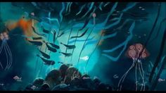 the ocean scene, from Song of the Sea. Absolutely beautiful movie with wonderful animation.
