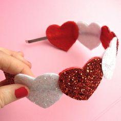 CandyCane Heart Headband - Jelly Button Jewellery