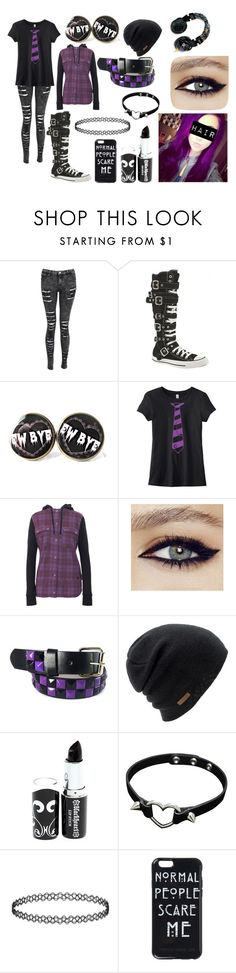 """Purple Scene/Emo"" by abipatterson ❤ liked on Polyvore featuring Converse, Armada, Skullcandy and Coal"