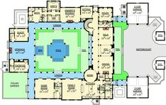 Courtyard Beauty - 82006KA | Traditional, Luxury, Photo Gallery, Premium Collection, 1st Floor Master Suite, Butler Walk-in Pantry, CAD Available, Courtyard, Den-Office-Library-Study, MBR Sitting Area, PDF | Architectural Designs