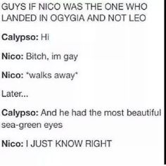pjo funny tumblr - Google Search nico and calypso || heroes of olympus