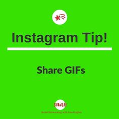Instagram Tip: Share GIFs GifShare is an app that allows you to share GIFs to your favourite social networks. You can search for GIFs or upload from your camera roll. GifShare accepts GIF MP4 MOV MPG and M4V file formats. You can download GifShare from the App Store or use any of these Android alternatives. Another iOS option is Giphy Cam Want to learn more about building your business using Instagram & Social Media? Or fancy working closely with me? Then click on the link in my bio…