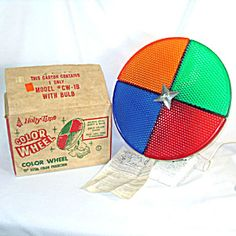 Holly Time 1960s Christmas Tree Color Wheel in Box. Click on the image for more information.