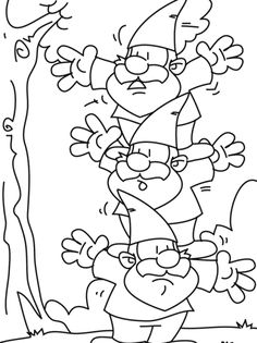 gnome ladder coloring pages