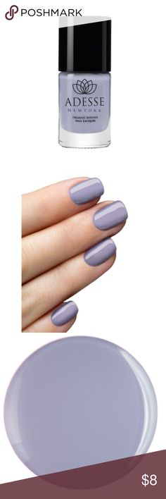 BOGO sale! Buy one get one free of equal or lesser value! Adesse New York organic infused nail lacquer in irina. This polish gives you the look of a gel without the UV lamp! Long wearing and fast drying, cruelty free and vegan! Color is more like a gray then the lavender depicted in the company's product pictures. Adesse Makeup